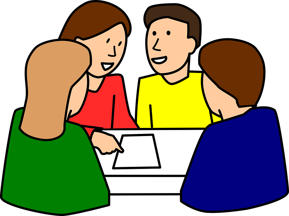 Student Group Work Clipart.