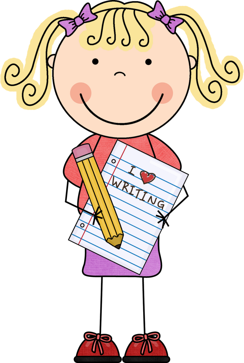 Student writing clipart.