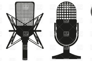 Studio microphone clipart 1 » Clipart Station.