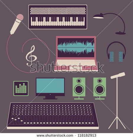 Studio Recording Stock Vectors & Vector Clip Art.