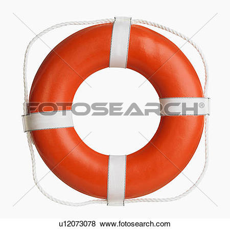 Pictures of Studio shot of boat life preserver u12073078.