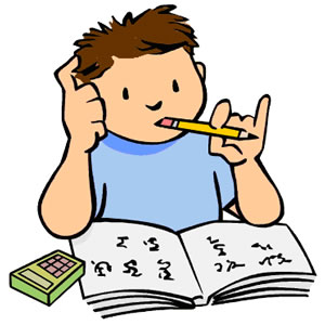 Studying Clipart.