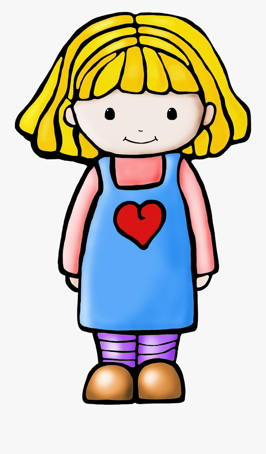 Girl Clip Art Black And White.