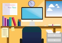 Study room Vector Image.