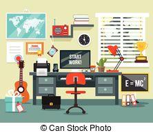 Study room Vector Clipart Royalty Free. 2,061 Study room clip art.