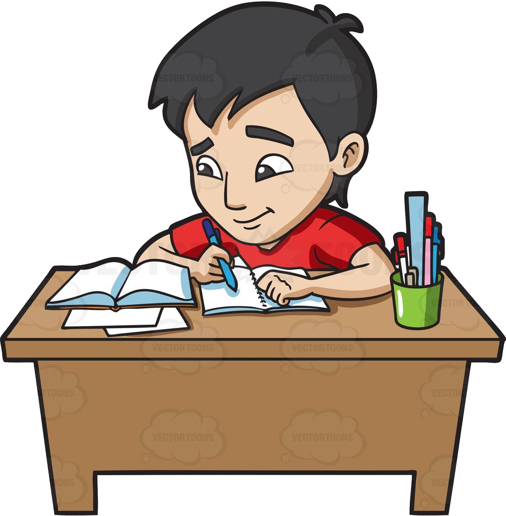 College Students Doing Homework Collection Studying Clipart.