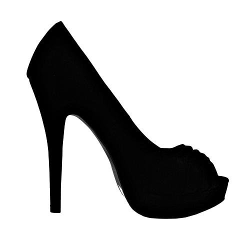 High Heel Silhouettes Clipart.