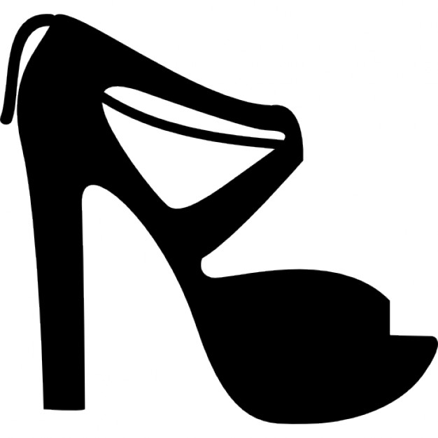 Strapped high heels Icons.