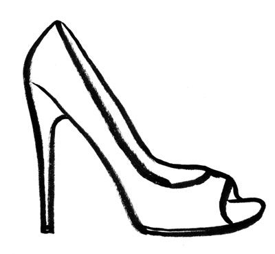 High heels woman shoe vector clip art image.