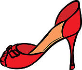 Clip Art of No Women's shoe sign icon. High heels shoe. k18294018.