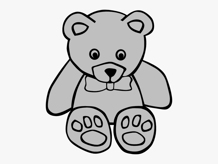 Stuffed Animal Clipart Black And White , Free Transparent.