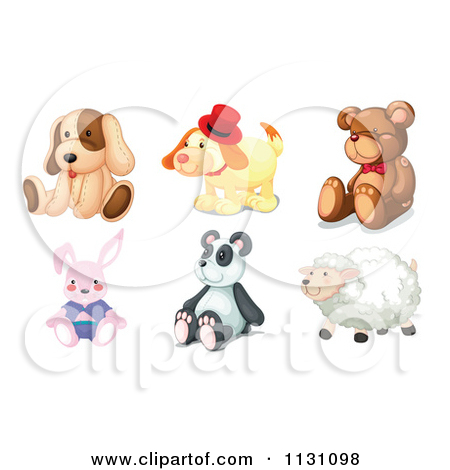 Cartoon Of Stuffed Animal Toys.