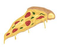 Pepperoni Pizza Stuffed Crust Stock Illustrations.