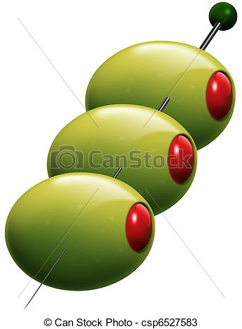 Drawings of Pitted olives stuffed.