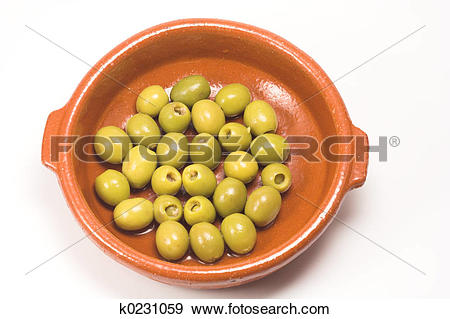 Stock Photograph of Anchovy stuffed olives k0231059.