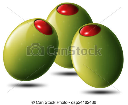 Drawings of Stuffed olives csp24182438.