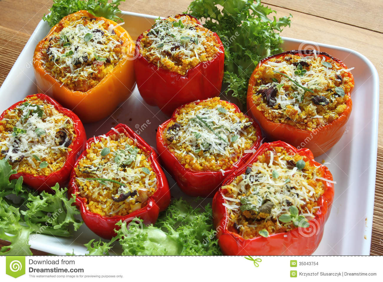 Stuffed Peppers Stock Images.