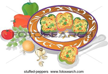 Stuffed peppers Illustrations and Clipart. 31 stuffed peppers.