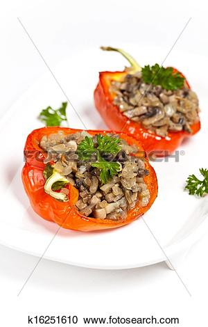 Stock Photography of Vegetarian Stuffed Peppers k16251610.