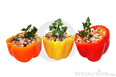 Stuffed Peppers With Meat Royalty Free Stock Photography.