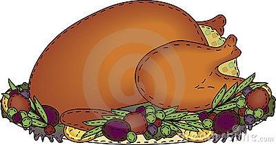 Stuffed Turkey Clipart.