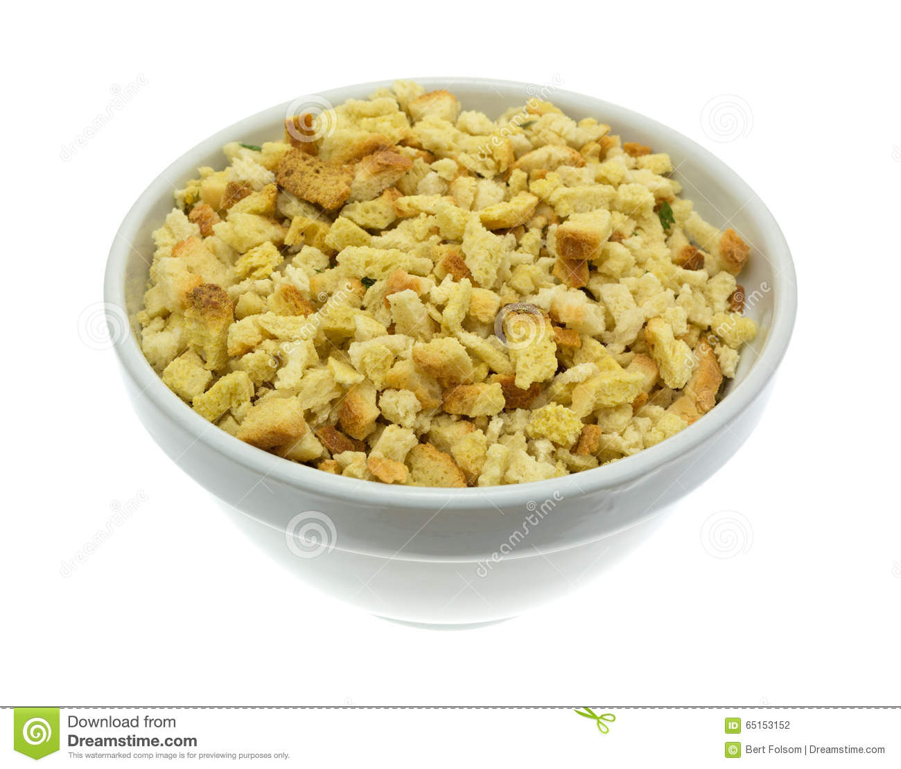Bowl Of Stuffing Royalty Free Stock Photography.