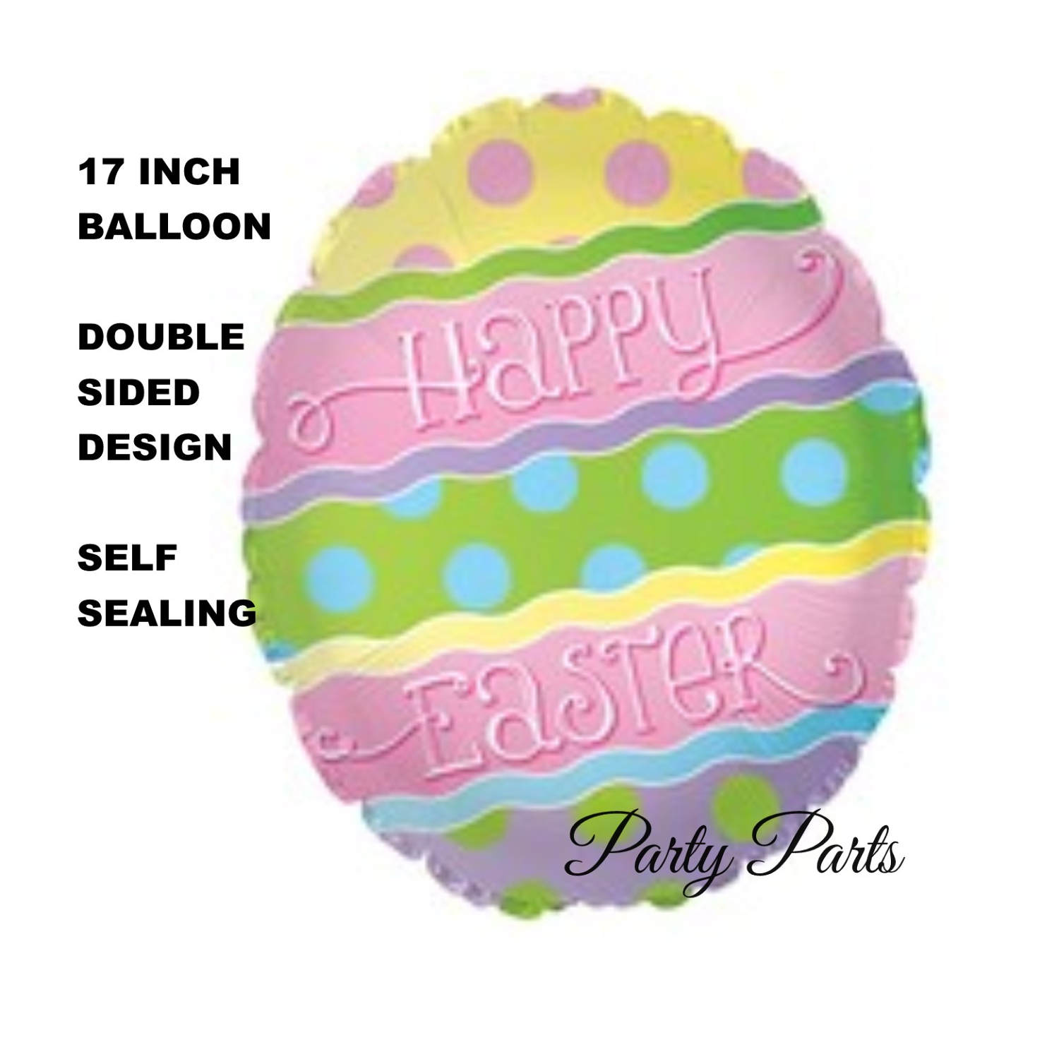 Happy Easter Balloon, Colored Easter Egg, Decorated, Party.