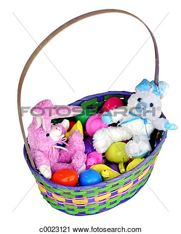 Stuffing Easter Eggs Clipart.