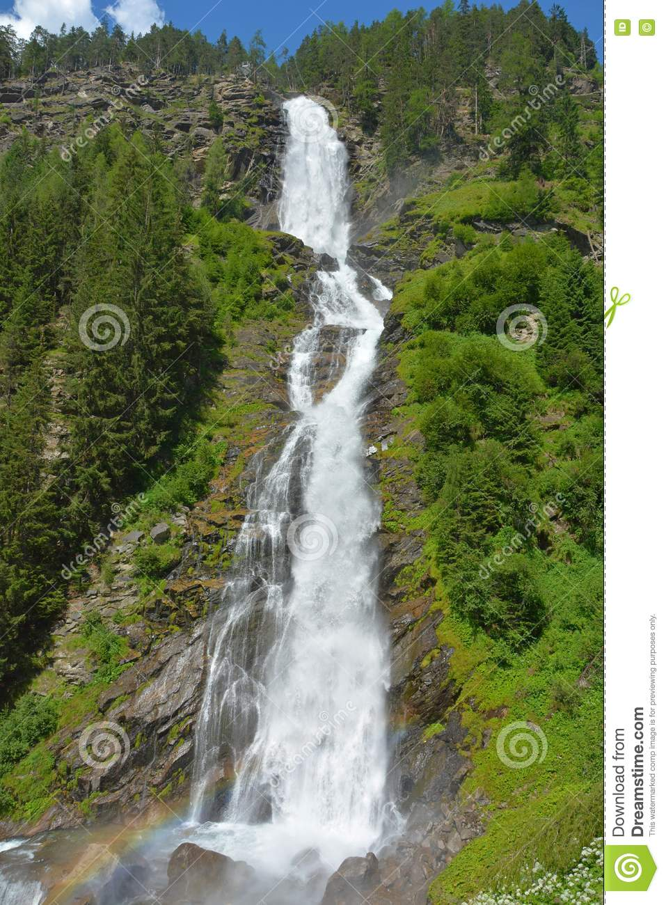Stuibenfall In Otztal, Austria Is The Longest Waterfall (159 M) In.
