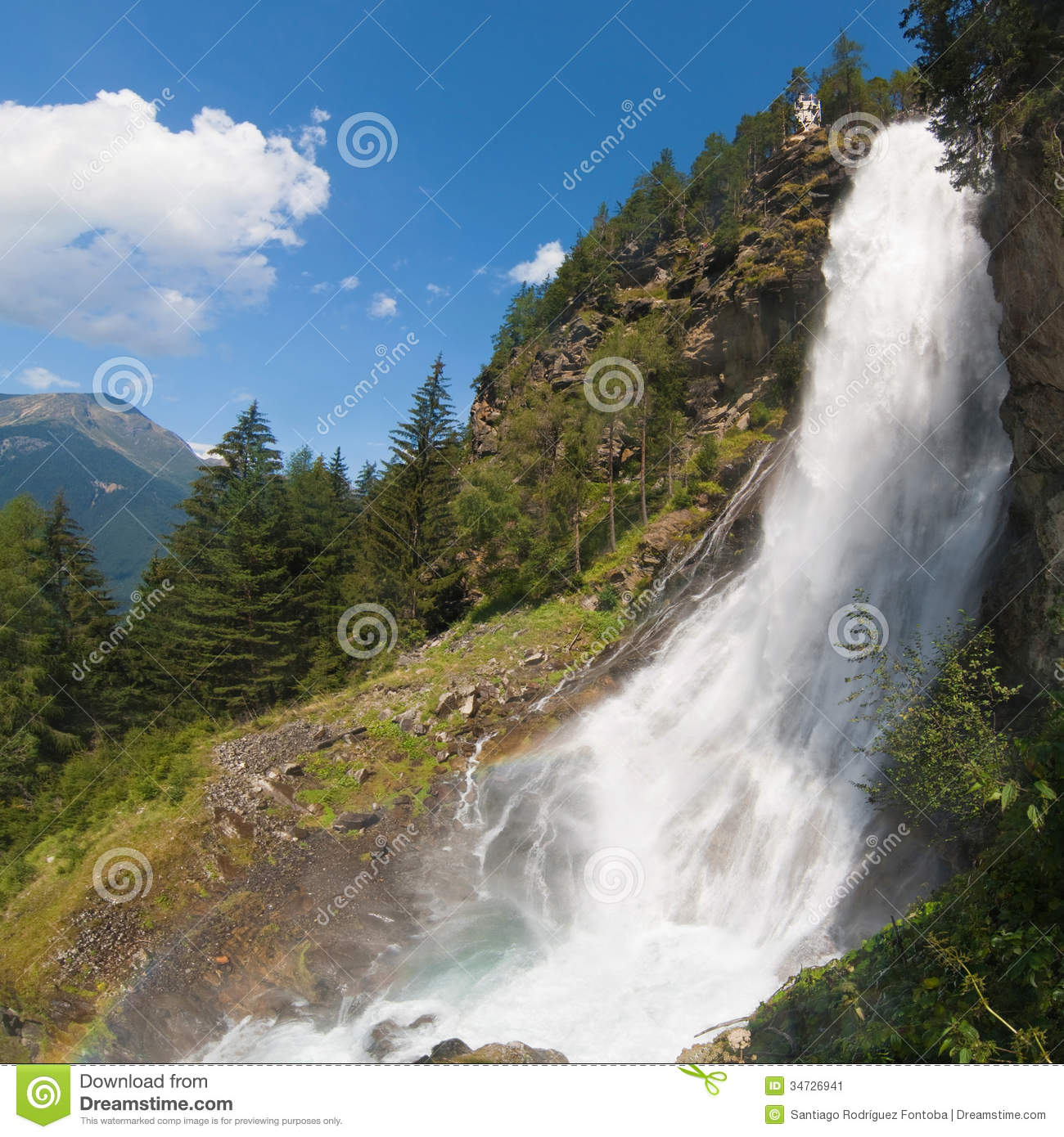 Stuibenfall Waterfall Stock Image.