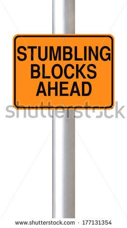 Stumbling Blocks Stock Images, Royalty.