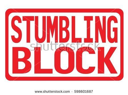 Stumbling stone clipart #11