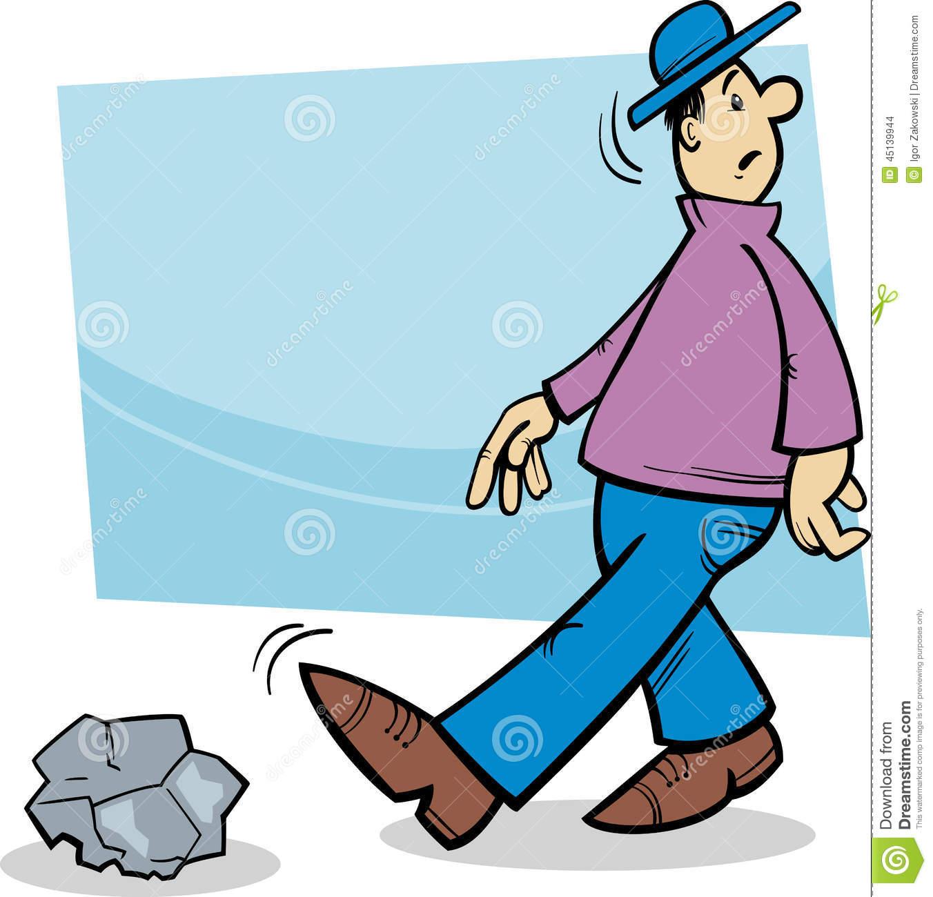 Stumbling stone clipart #19