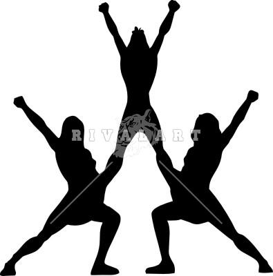 Cheerleading Clipart Stunts.