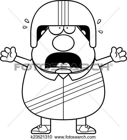 Clipart of Scared Cartoon Stuntman k23521310.