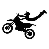 Stuntman on motorbike Vector Image.