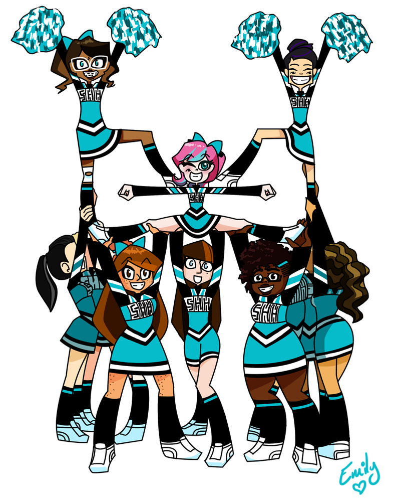 Cheerleading Clipart Stunts.
