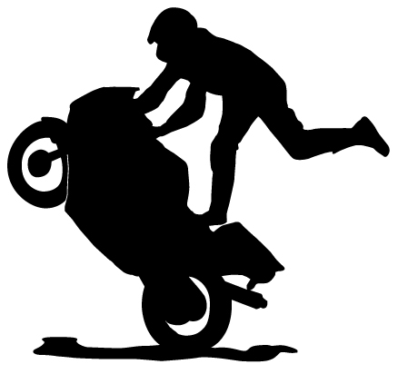 Bike stunt images clipart.