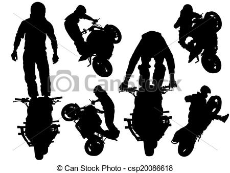 Vector Clip Art of Extreme motor sport.