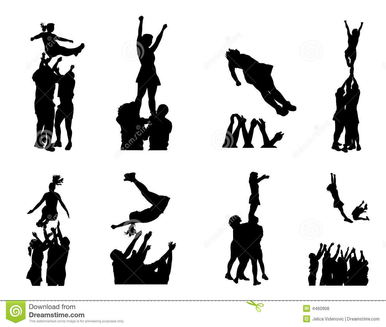 Cheerleading Stunt Clipart.