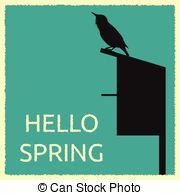 Clip Art of European Starling.
