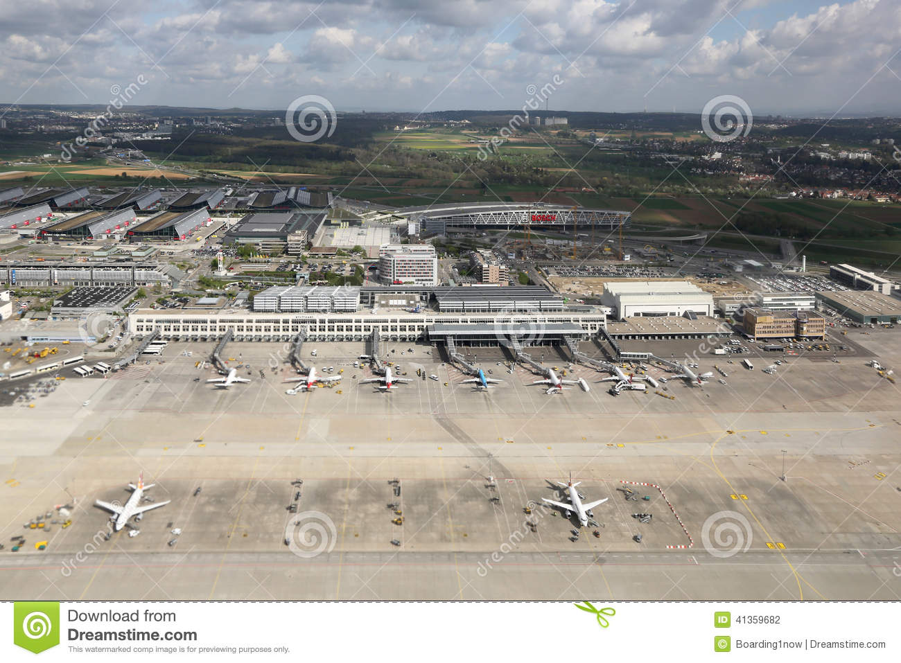 Stuttgart Airport, Germany Editorial Photography.