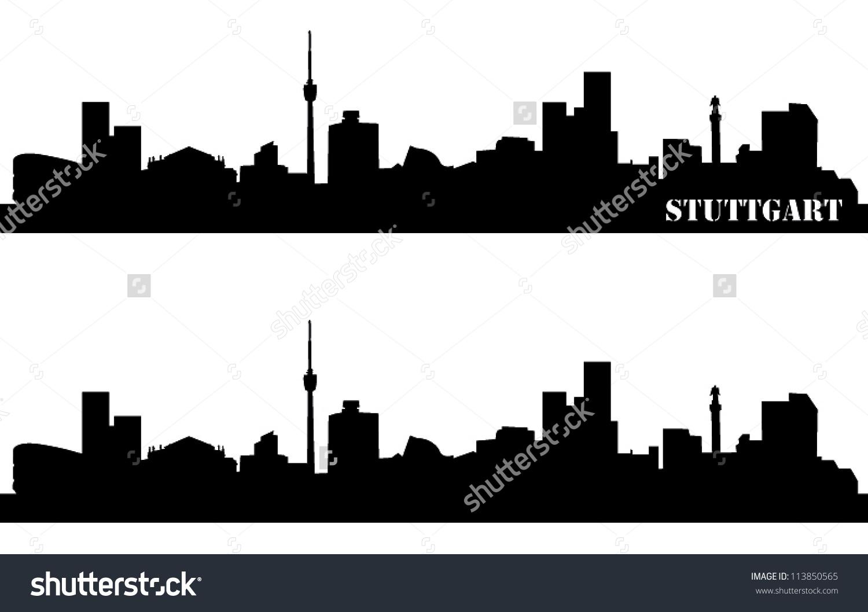 Skyline Stuttgart Stock Vector 113850565.