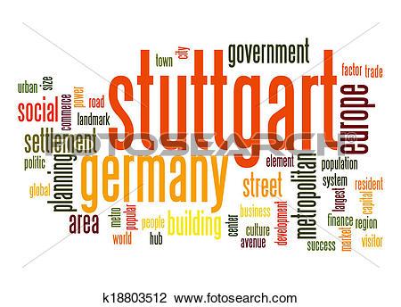 Clip Art of Stuttgart word cloud k18803512.