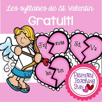 French Valentine Freebie! Les syllabes de St. Valentin, 4.