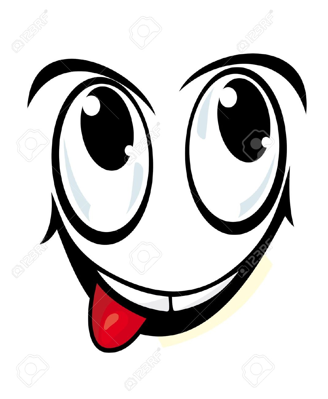 Smiling eyes clipart.