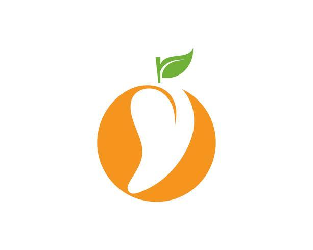 Mango in flat style. Mango vector logo. Mango.