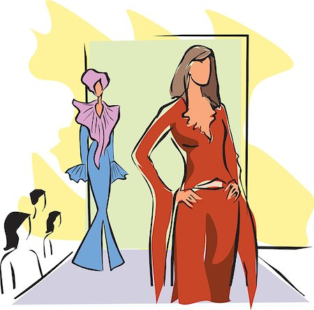 Fashion show clip art images Stock Photos.