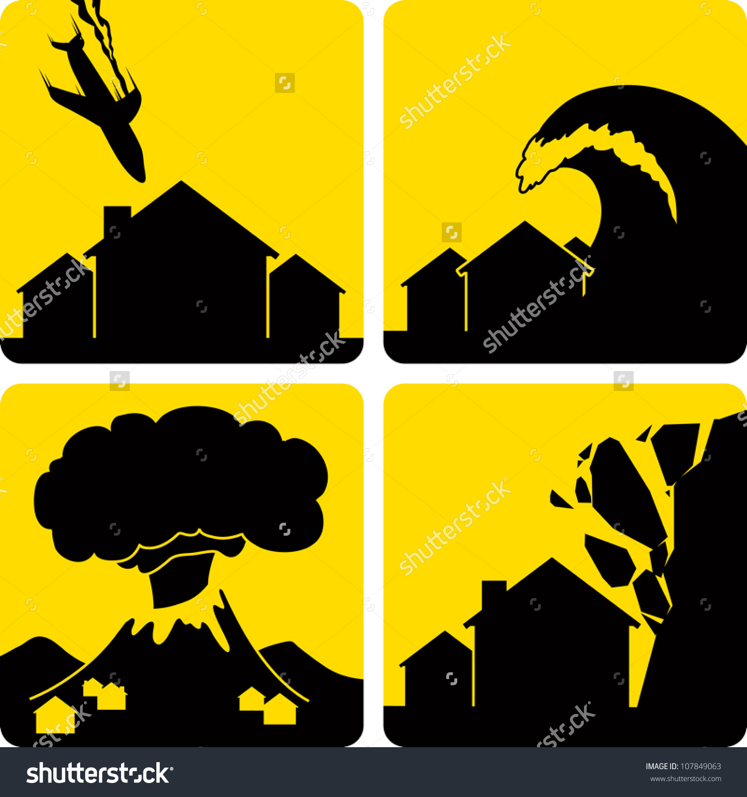 Clip Art Illustration Styled Like Universal Stock Vector 107849063.