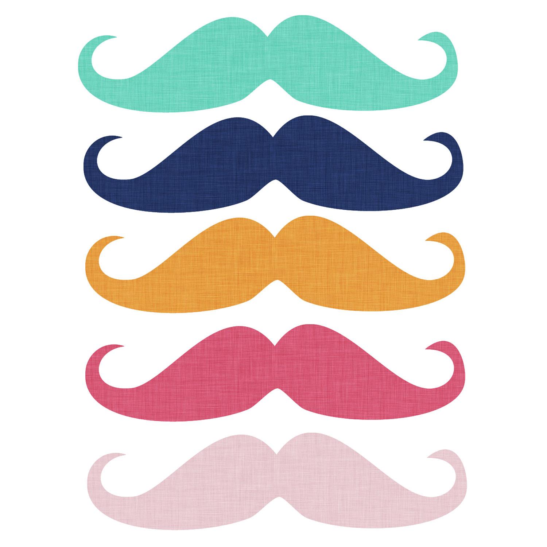 Moustache styles clipart.